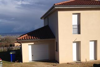 Construction d'une extension d'habitation dans le Rhône