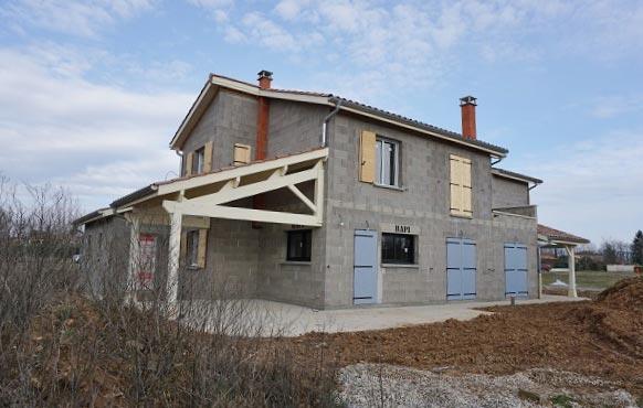 Construction de Maison type Mas de Provence, Maison traditionnelle Nord de Lyon