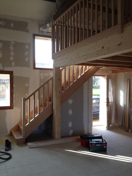 rénovation de maison individuelle, ferme en pisé, agrandissement