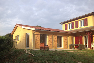 Construction d'une extension d'habitation dans l' Ain