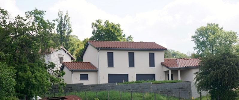 Maison d'architecte dans l'Ain, construction maison neuve