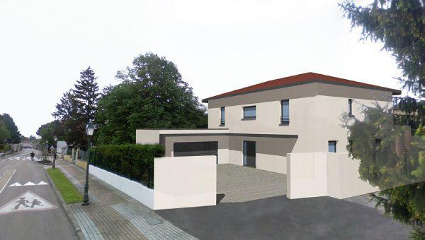 Constrcution de maison contemporaine, séjour cathédrale, maître d'oeuvre dans le Rhône
