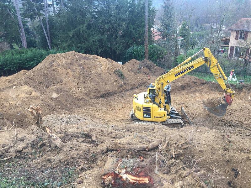 Maître d'oeuvre sur Lyon, construction de maison sur terrain en pente