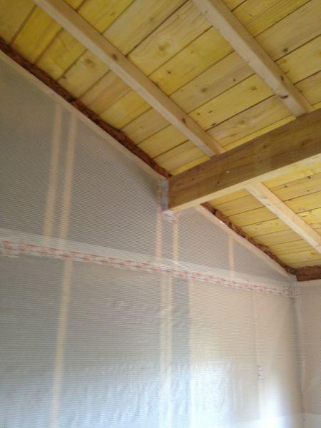 surélévation de garage pour extension de maison